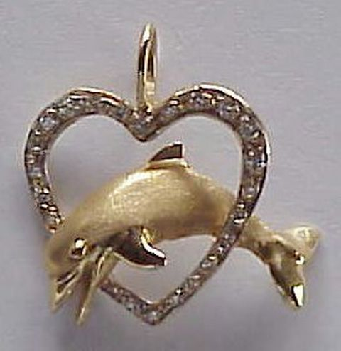 Dolphin Jewelry Picture - Diamond Heart