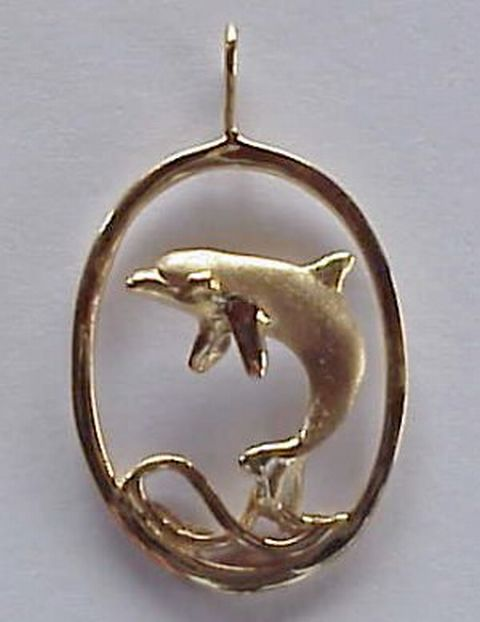 oval dolphin jewelry picture