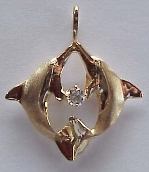 Golden dolphin jewelry pictures